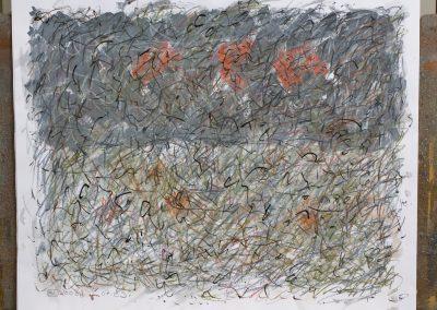 102. Este szürke a kert 2008. (40x50 cm) papír
