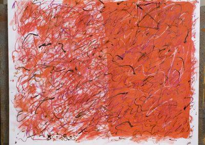 105. Egy hely a kertben a virágok között 2008. (40x50 cm) papír