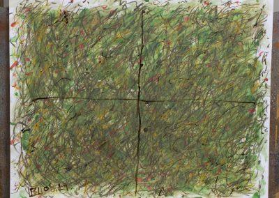 106. A kert zöldje 2008. (40x50 cm) papír
