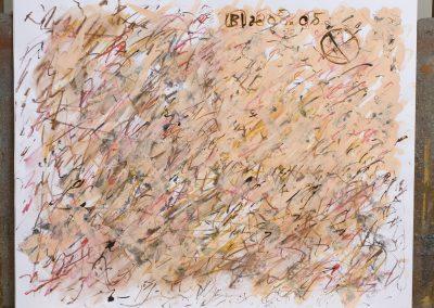 108. Virágos kert 2008. ( 40x50 cm) papír