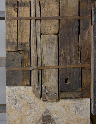 146. Kerítés kis házzal 1993. ((80x52,5 cm) v.t.
