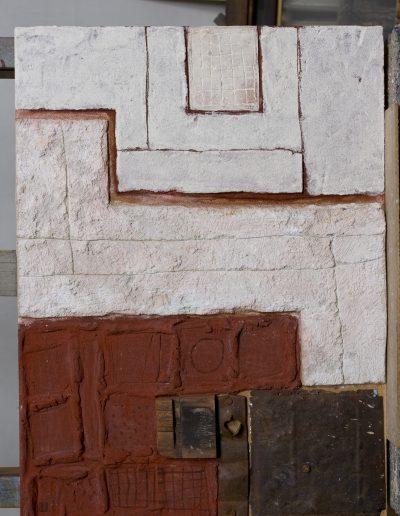 150. Piros-fehér fal 2008. (60x50 cm) v.t.