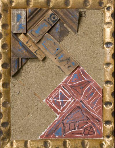 171. Piros-kék kép 2001. (18x13 cm) v.t.
