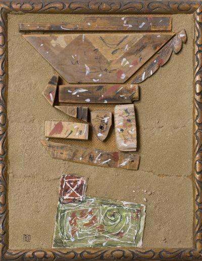 172. Kis fehér X. 2001. ( 27x22 cm) v.t.