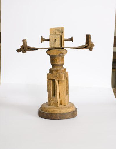 176. Kereszt 2001. (22x22x11 cm) fa, fém