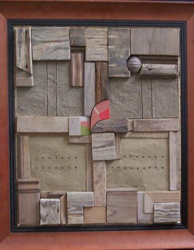221. Talált tárgyak II. 2011.62x50 cm.