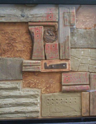 228. Fa, homok hordalék 2011. 50x50 cm