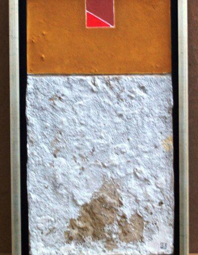 244. Sárga -piros kép 43x23 cm. 2013.