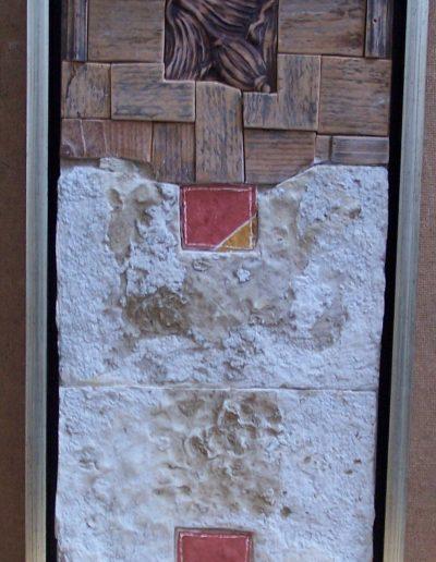 249. Mákgubós kép 2013. (43x23 cm) v.t.