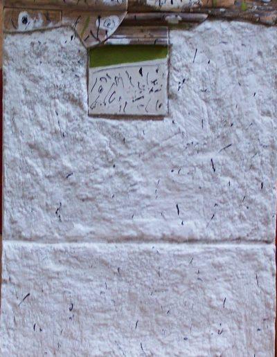 276.Zöld csíkos kép 41x27 cm. 2015