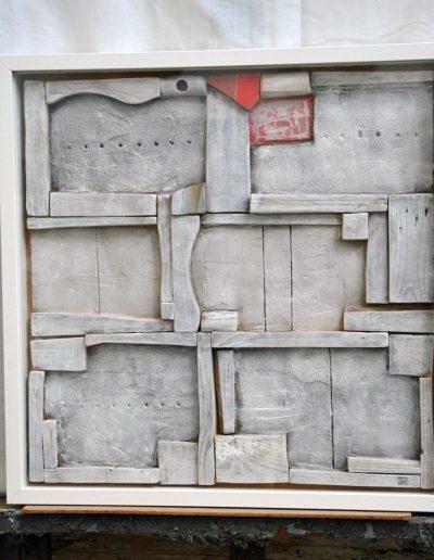 303.Piros, fehér 2012. (50x50 cm) v.t.