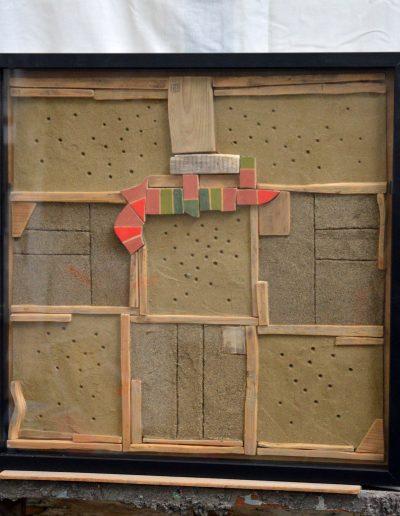 304. Pirosk-zöldek 2012. (50x50 cm) v.t.
