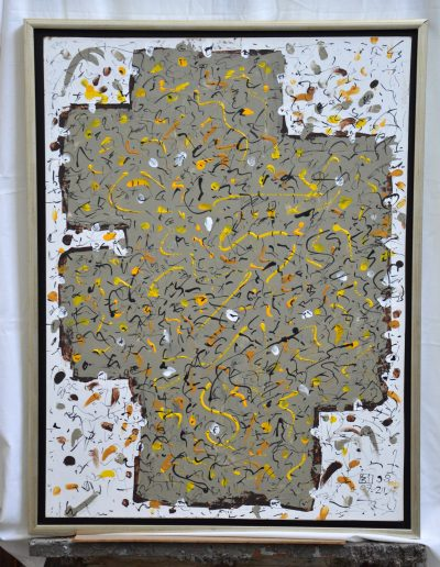 306. Napló 1998.07.21. (80x60 cm) farost, akril