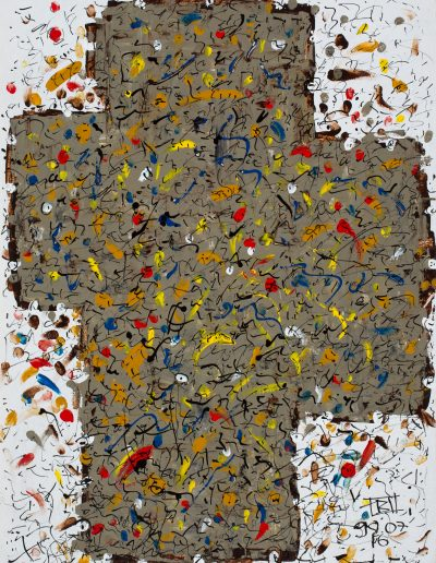 310. Napló 1998. 07.16. (80x60 cm) farost, akril