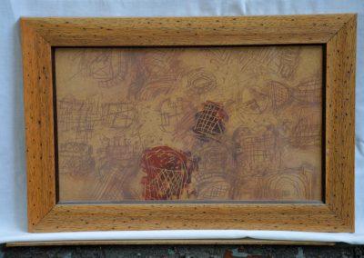 316a. Sokan vagyunk a Kulcsi kertben,pedig esteledik 2000.08.06. (22x37 cm) ceruza rajz
