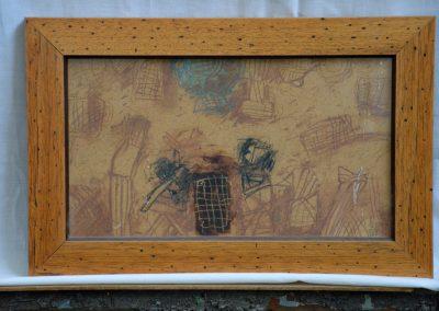 317. Kulcsi jelenet késő délután 2000.07.11. (21x35 cm) ceruza rajz