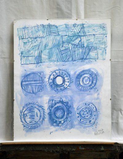 326. Cím nélküli 2007. 05.27. (50x40 cm) papír, akvarell