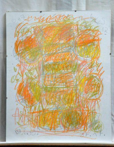 327. Cím nélküli 2009. 07.17. (50x40 cm) papír, zsírkréta