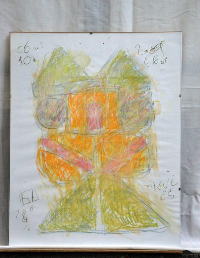 328. Kulcs 2009. 06.10. (50x40 cm) papír, zsírkréta