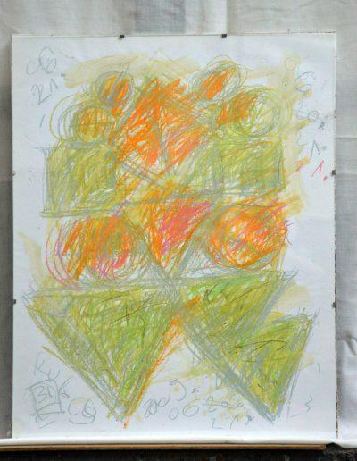 329. Kulcs 2009. 06.20. (50x40 cm) papír, zsírkréta