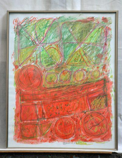 332. Címnélküli 2007. (50x40 cm) papír, akvarell