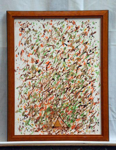 338. Okker háromszög 2012. 06.06.(40x30 cm) farost, v.t.