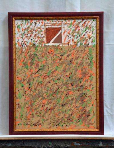 340. Barna kert 2012.05.30. (40x30 cm) farost, v.t.