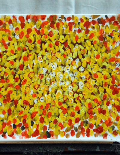 344. Augusztusi virágok 2017. 08.23. (40x50 cm) olaj, vászon