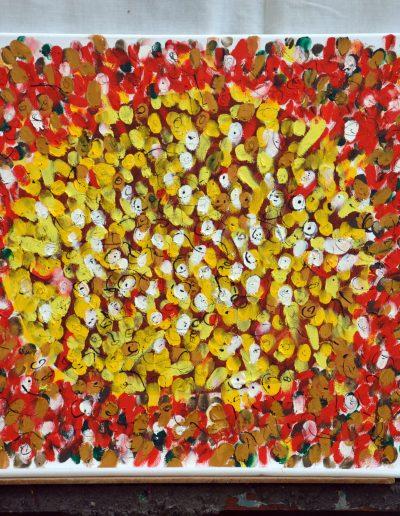 347.Sárga kert 2017.07.10. (40x50 cm) olaj, vászon