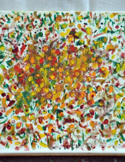 348. Porcsin rózsa 2014.07.26. (40x50 cm) olaj, vászon
