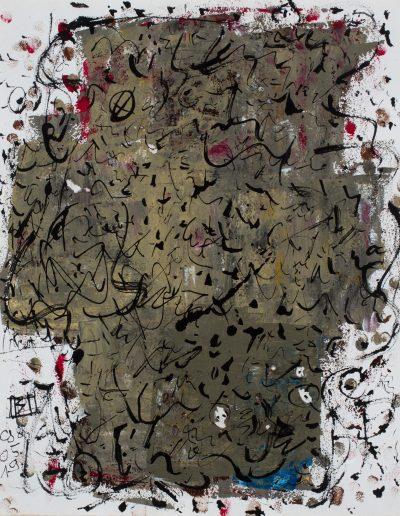 350. Jegyzet 1998.05.19. (40x50 cm) papír, akril, tus