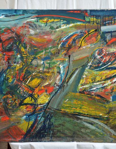 353. Attrocitás 1975.09.16. (100x120 cm) olaj, vászon