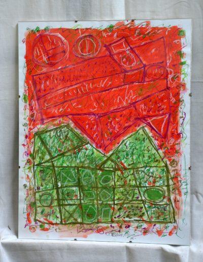 357. Cím nélküli XV. 2007. 08.16. (50x40 cm) papír ,v.t.