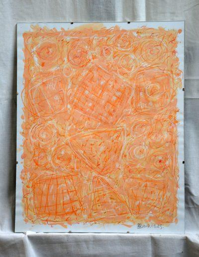 358. Kulcsi kert II. 2007. 08.25. (50x40 cm) papír, v.t.