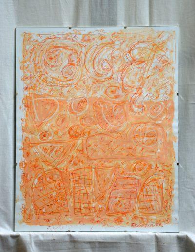 361. Kulcsi kert III. 2007. 08.27. (50x40 cm) papír, v.t.