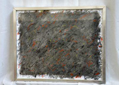 389. fekete éjszaka 2008. (30x40 cm) papír, zsírkréta