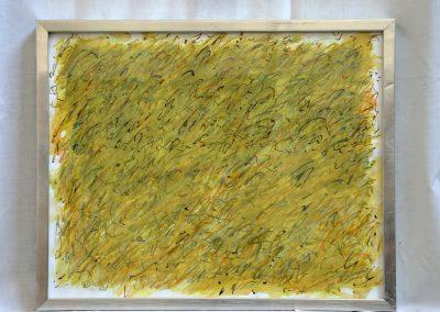 390. Zöldes kert 2008. (30x40 cm) papír, zsírkréta