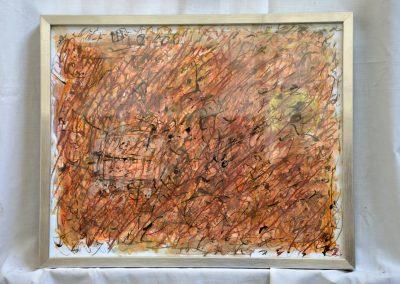 392. Kert ősszel 2008 (30x40 cm) papír, zsírkréta