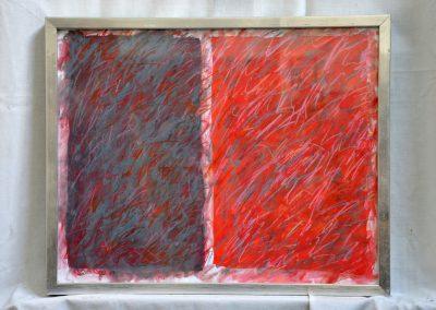 393. Szürke, fehér kert 2008. (30x40 cm) papír, zsírkréta
