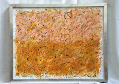 394. Egy hely a kertben 2008 (30x40 cm) papír, zsírkréta