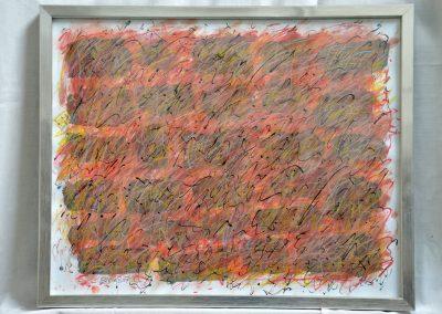 396. Októberi kert 2008. (30x40 cm) papír, zsírkréta