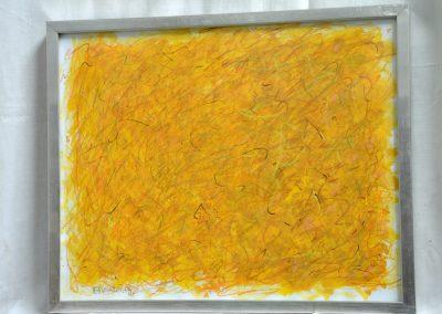 400. Sárga kert Kulcson 2008. (30x40 cm) papír, zsírkréta