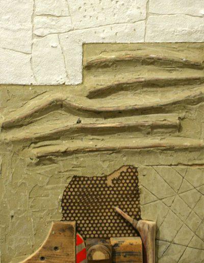 93. Vakolt fal 2007. (58x43 cm) v.t.