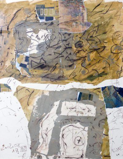 129. Kulcsi jegyzet I. 2002. (50x40 cm) papír