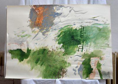 438.Cím nélkül.2001.07.23. (70x100 cm) akvarell