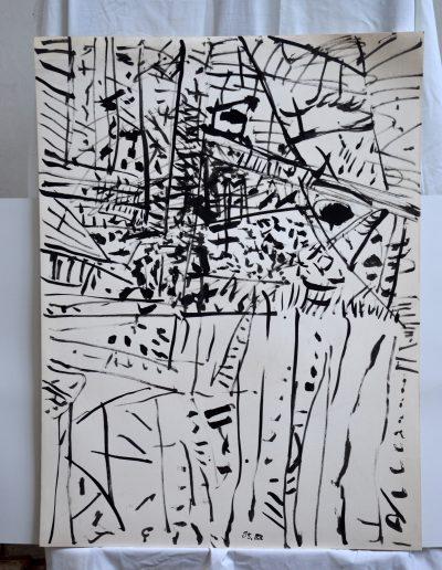 440. Cím nélkül. 1995. (100x70 cm) tus rajz