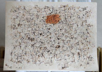441. Cím nélköl. 2005.01.18. (70x100 cm) tus rajz