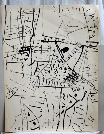 445. Cím nélkül. 1995. (100x70 cm) tus rajz