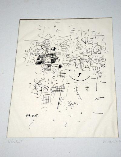 460. Vázlat 1. 1977.01.05. (28x20 cm) tus rajz