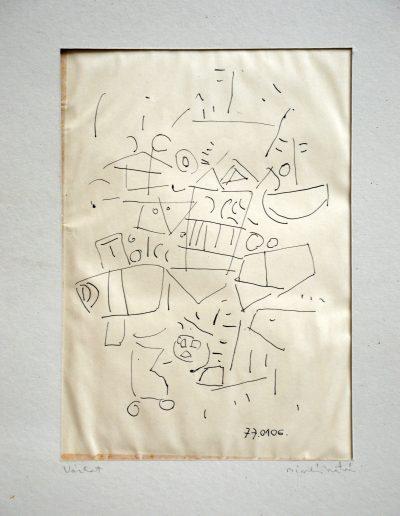 461. Vázlat 2. 1977.01.06. (28x20 cm) tus rajz